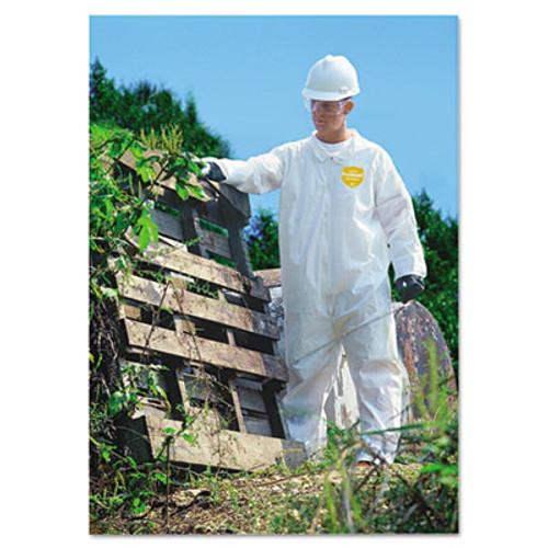 DuPont ProShield NexGen Coveralls, HD Polyethylene, White, X-Large, 25/Carton (DUP NG120SXL)