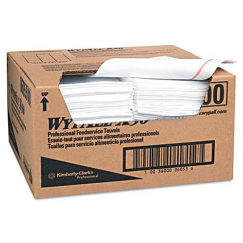WypAll* X50 Wipers, 23 1/2 x 12 1/2, White, 200/Carton (KCC 06053)