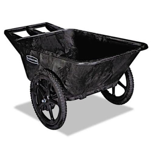 Rubbermaid Commercial Big Wheel Agriculture Cart, 300-lb Cap, 32-3/4 x 58 x 28-1/4, Black (RCP 5642 BLA)