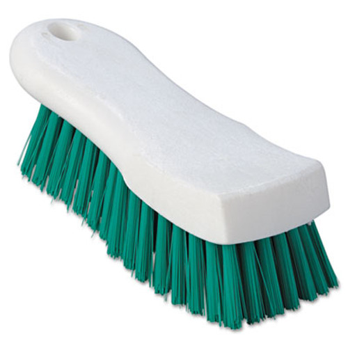 "Boardwalk Scrub Brush, Green Polypropylene Fill, 6"" Long, White (BWK FSCBGRN)"