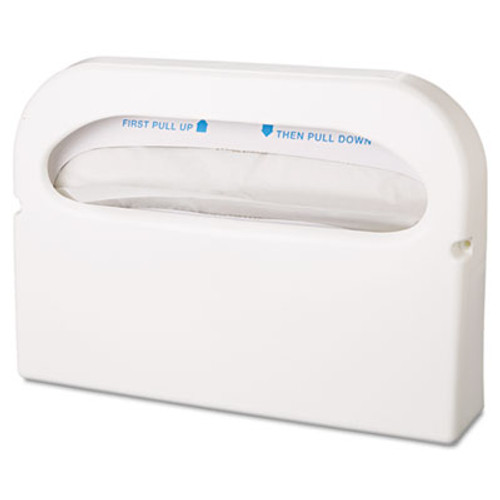 Hospital Specialty Co. Toilet Seat Cover Dispenser, Half-Fold, Plastic, White, 16w x 3 1/4d x 11 1/2h (HOS HG-1-2)