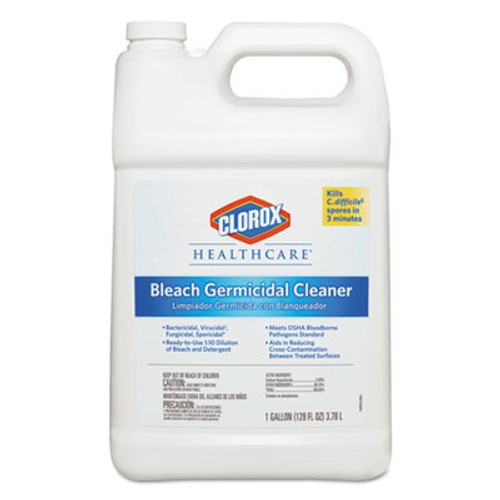 Clorox Healthcare Hospital Cleaner Disinfectant w/Bleach, 128 oz Refill (CLO 68978)