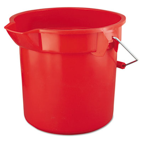 Rubbermaid Commercial BRUTE Round Utility Pail, 14qt, Red (RCP 2614 RED)
