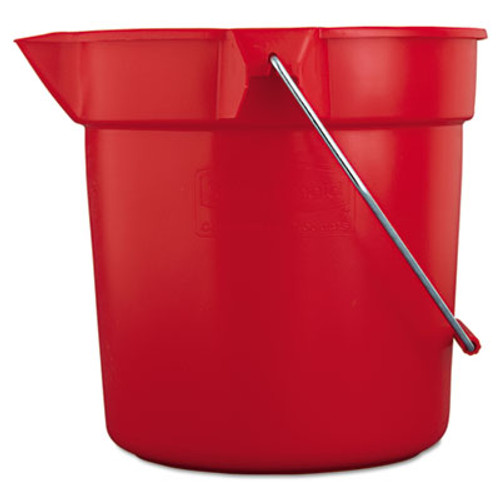 Rubbermaid Commercial BRUTE Round Utility Pail, 10qt, Red (RCP 2963 RED)