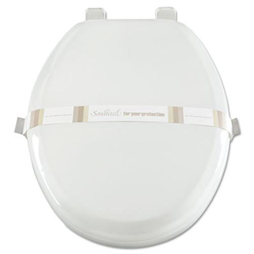 Royal Paper Toilet Seat Bands, Brown/White, Paper, 2000/Carton (RPP RHM3)