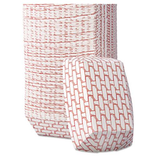 Boardwalk Paper Food Baskets, 8oz Capacity, Red/White, 1000/Carton (BWK 30LAG050)