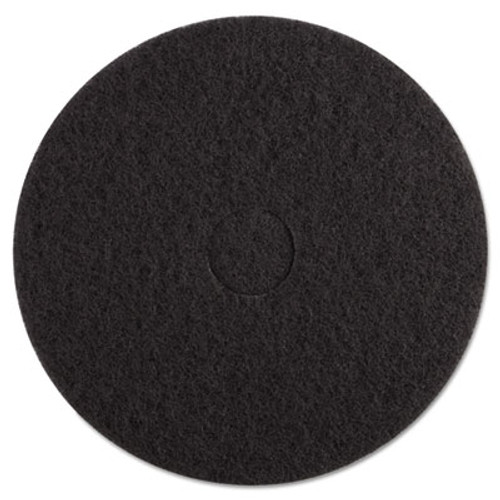 "Boardwalk Standard Black Floor Pads, 17"" dia, Black, 5/Carton (PAD 4017 BLA)"