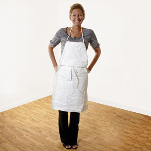 DuPont Tyvek Apron, White, One Size Fits All, 100/Carton (DUP TY273BWH)