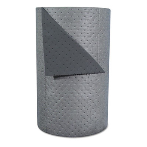 "SPC High-Traffic Series Sorbent-Pad Roll, 63gal, 30"" x 300ft, Gray, 100/Pack (SBD HT303)"