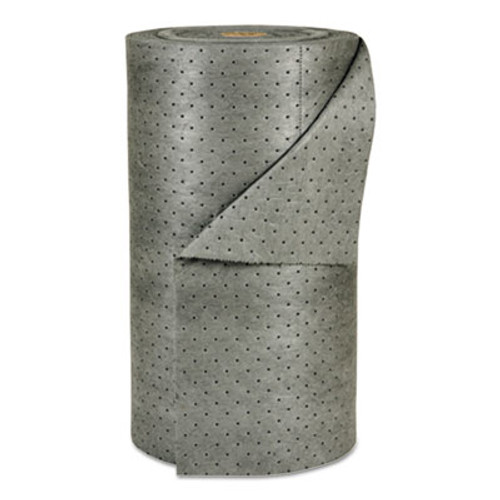 "SPC MRO Plus Heavy Sorbent-Pad Roll, 49gal, 30"" x 150ft, Gray (SBD MRO30-DP)"