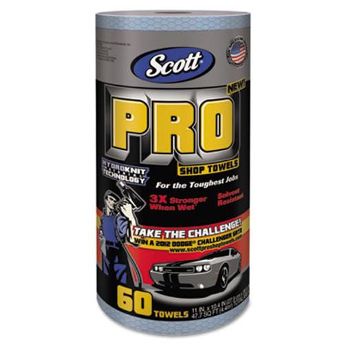"Scott Pro Shop Towels, 1-Ply, Blue, 10 2/5"" x 11"", 12 Rolls/Carton (KCC 32992)"