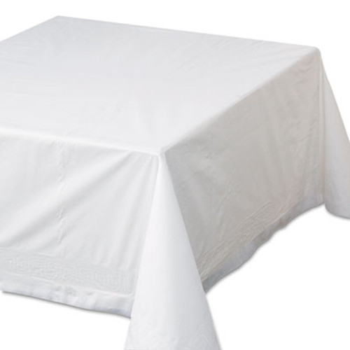 """Hoffmaster Tissue/Poly Tablecovers, 72"""" x 72"""", White, 25/Carton (HFM 210066)"""