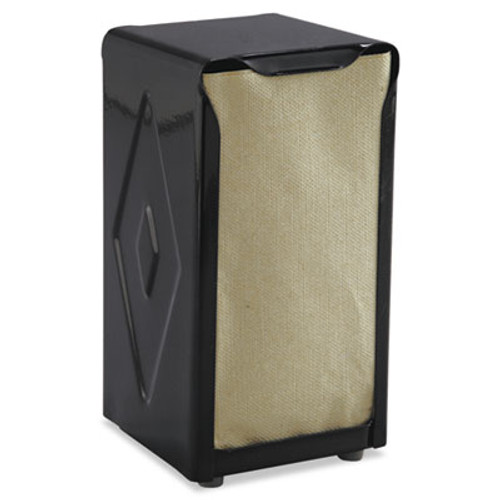San Jamar Tabletop Napkin Dispenser, Tall Fold, 3 3/4 x 4 x 7 1/2, Capacity: 150, Black (SAN H900BK)