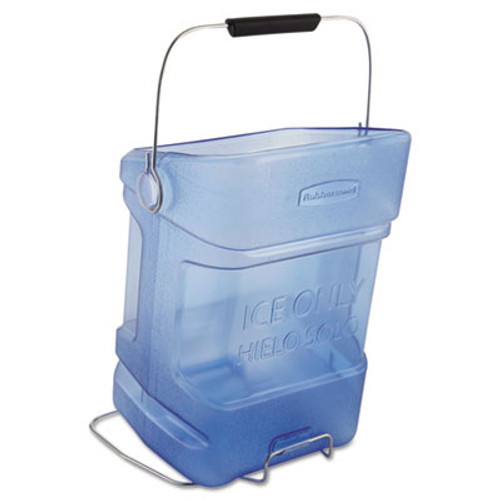 Rubbermaid Commercial Ice Tote, 5.5gal, Blue, With Hook Assembly (RCP 9F54 TBL)
