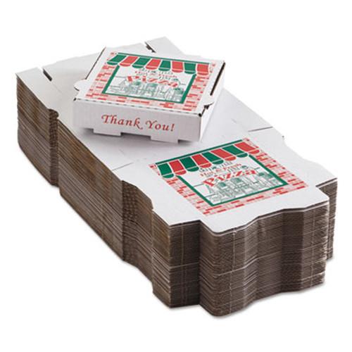 ARVCO Corrugated Pizza Boxes, Kraft/White, 8 x 8 (ARV 9084393)