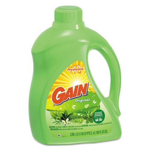 Gain Liquid Laundry Detergent, Original Scent, 100oz, 4/CT (PGC 12786)
