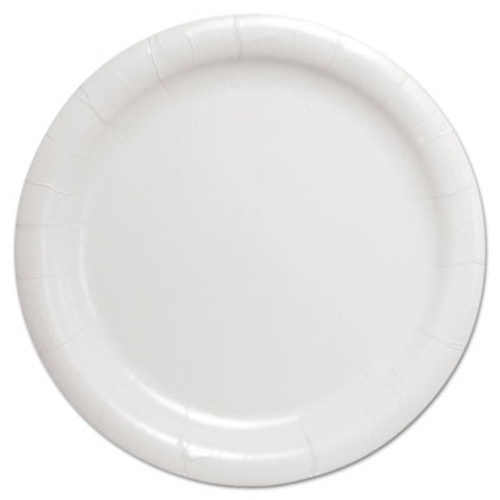 """SOLO Cup Company Bare Eco-Forward Clay-Coated Paper Dinnerware, Plate, 9"""" Diameter, White (SCC HP9S)"""