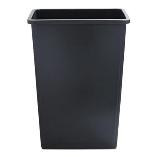 Boardwalk Slim Jim Waste Container, 23 Gal, Gray, Plastic (UNS 23GLSJ GRA)