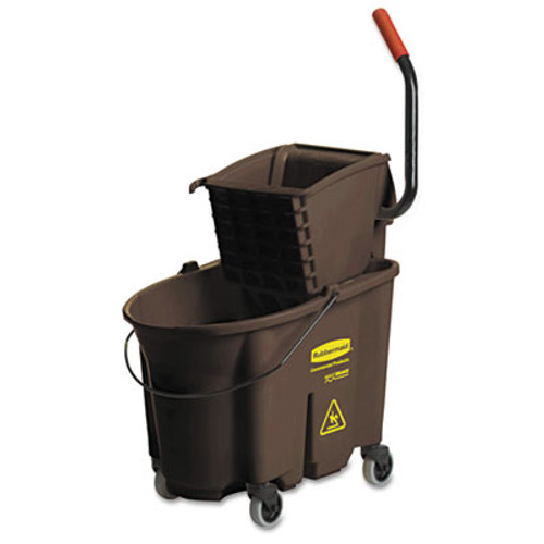 Rubbermaid Commercial Wavebrake 35 Quart Bucket/Wringer Combinations, Brown (RCP 7580-88 BRO)