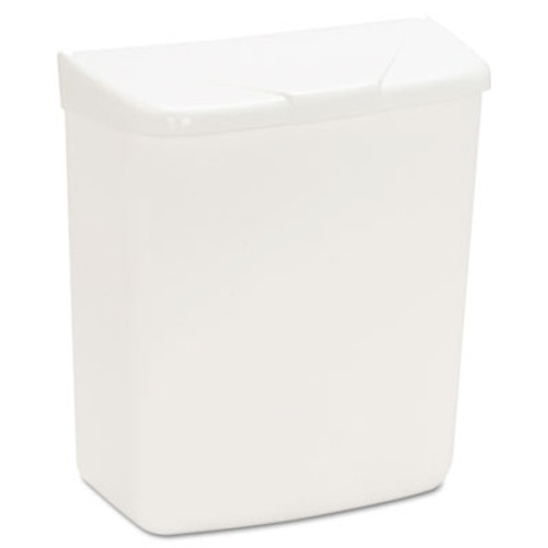 HOSPECO Wall Mount Sanitary Napkin Receptacle, Plastic, 1gal, White (HOS 250/201W)