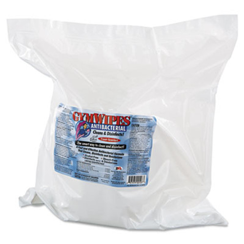 2XL Antibacterial Gym Wipes Refill, 6 x 8, Fresh, 700 Wipes/Pack, 4 Packs/Carton (TXL L101)