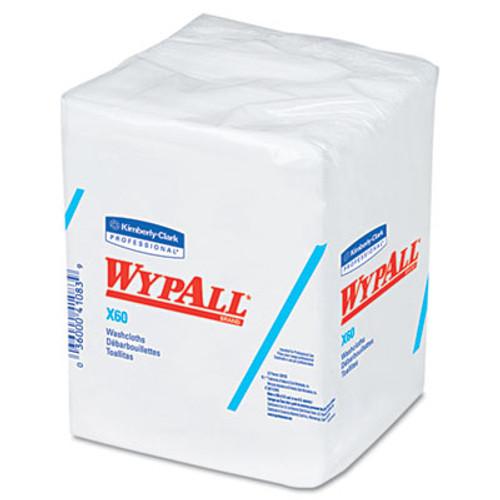WypAll* X60 Washcloths, 12 1/2 x 10, White, 70/Pack, 8 Packs/Carton (KCC 41083)