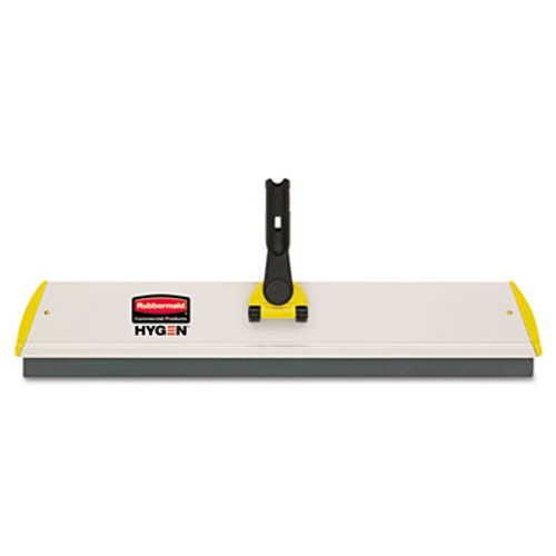 Rubbermaid Commercial HYGEN HYGEN Quick Connect S-S Frame, Squeegee, 24w x 4 1/2d, Aluminum, Yellow (RCP Q570)