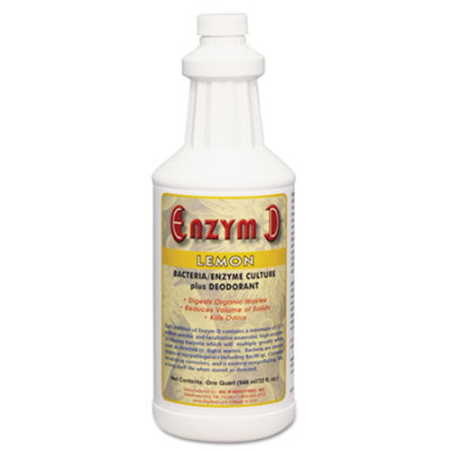 Big D Industries Enzym D Digester Liquid Deodorant, Lemon, 32oz, 12/Carton (BGD 500)