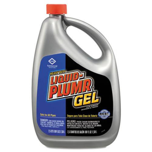 Liquid Plumr Heavy-Duty Clog Remover, Gel, 80oz Bottle, 6/Carton (CLO 35286)