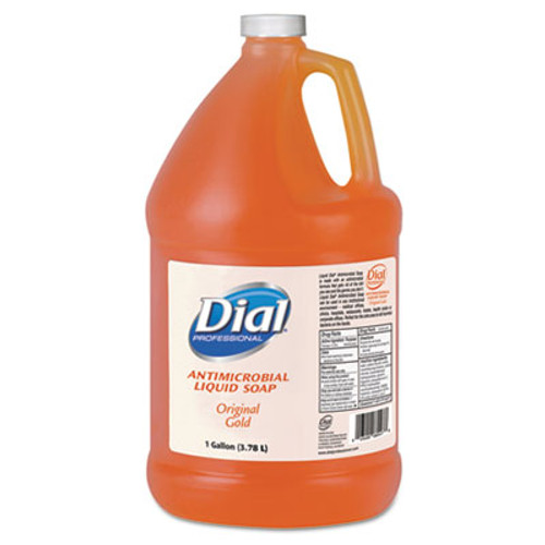 Dial Professional Gold Antimicrobial Liquid Hand Soap, Floral Fragrance, 1gal Bottle, 4/Carton (DIA 88047)