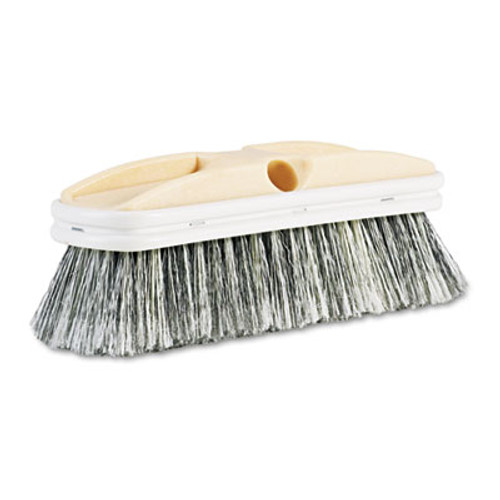 "Boardwalk Polystyrene Vehicle Brush w/Vinyl Bumper, 2 1/2"" Bristles, 10"" Brush (BWK 8410)"