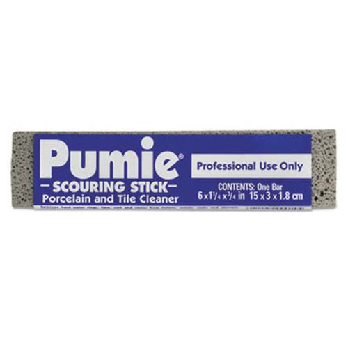 Pumie Scouring Stick, Pumie, Gray Pumice, 5 3/4 x 3/4 x 11/4, 12 per Box (PUM 12)