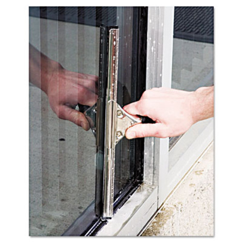 Unger Pro Stainless Steel Window Squeegee, 18 inch Wide Blade, Black Rubber (UNG PR45)