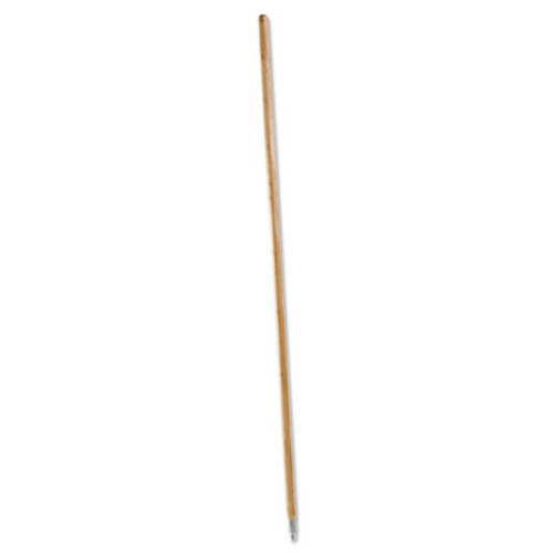 Boardwalk Metal Tip Threaded Hardwood Broom Handle, 1 1/8 dia x 60, Natural (BWK 138)