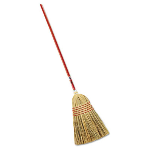 """Rubbermaid Commercial Standard Corn-Fill Broom, 38"""" Handle, Red (RCP 6381)"""