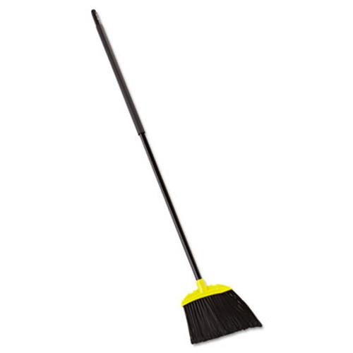 "Rubbermaid Commercial Jumbo Smooth Sweep Angled Broom, 46"" Handle, Black/Yellow, 6/Carton (RCP 6389-06 BLA)"