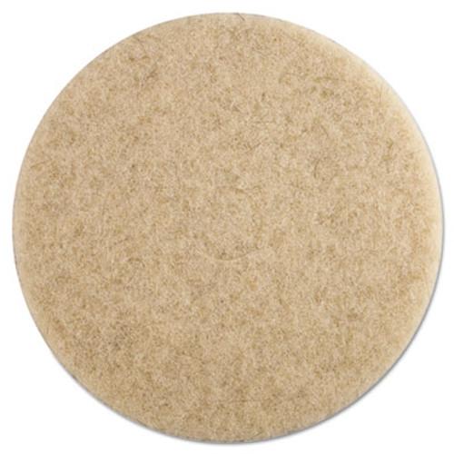 Boardwalk Ultra High-Speed Floor Pads, 19-Inch Dia., Natural Hair, Champagne, 5/Carton (PAD 4019 NHE)