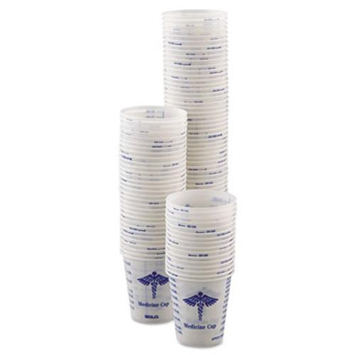 SOLO Cup Company Paper Medical & Dental Graduated Cups, 3oz, White/Blue, 100/Bag, 50 Bags/Carton (SCC R3)