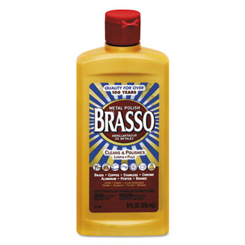 BRASSO Metal Surface Polish, 8 oz Bottle (REC 89334)