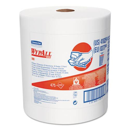 WypAll* X80 Shop Towels, Jumbo Roll, 12 1/2w x 13.4l, White (KCC 41025)