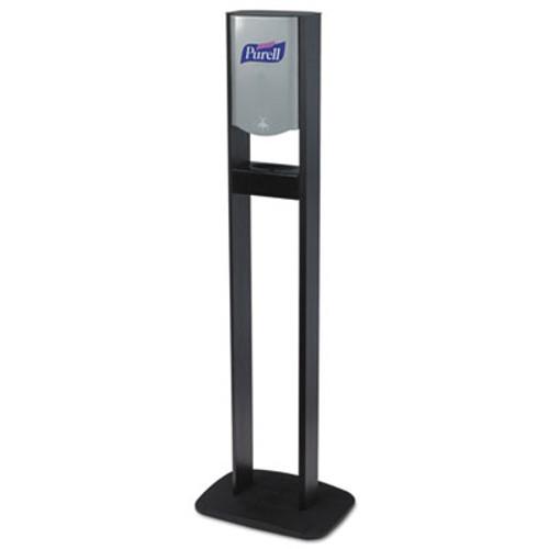 PURELL Elite TFX Floor Stand Dispenser Station, F/1200mL Refills, Chrome/Black, 2/Crtn (GOJ 2454-DS02)