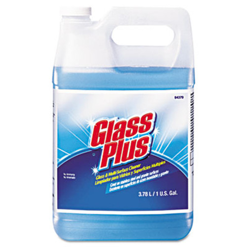 Glass Plus Glass Cleaner, Floral, 1gal Bottle, 4/Carton (DVO 94379)