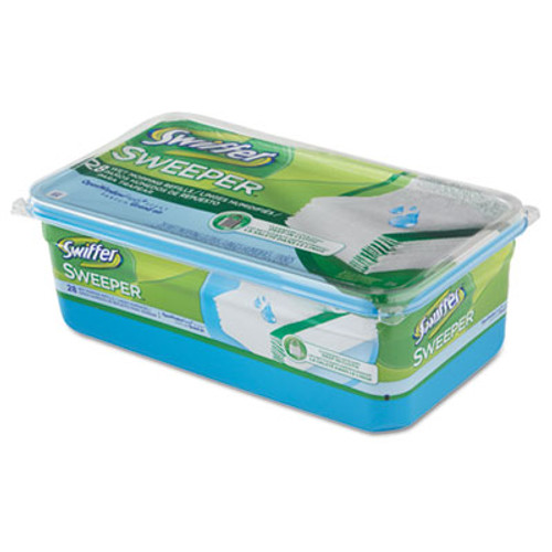 Swiffer Wet Refill Cloths, Open Window Fresh, Cloth, White, 10 x 8, 28/Box, 6 Boxes/CT (PGC 82856)