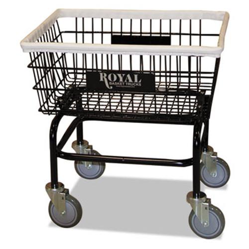 Royal Basket Trucks Small Wire Laundry Cart, 21 x 26 x 26 1/2, 200 lbs. Capacity, Black (RBT R27BKXWA5UN)