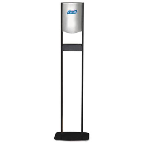PURELL Elite LTX Floor Stand Dispenser Station, For 1200mL Refills, Chrome/Black (GOJ 2456-DS)