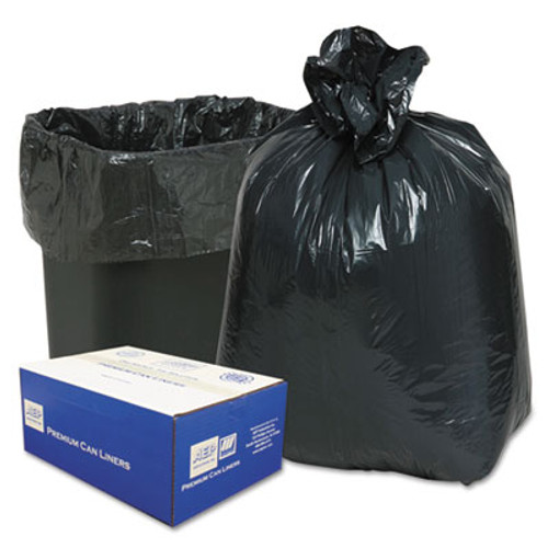 Classic 2-Ply Low-Density Can Liners, 7-10gal, .6mil, 24 x 23, Black, 500/Carton (WEB 242315B)