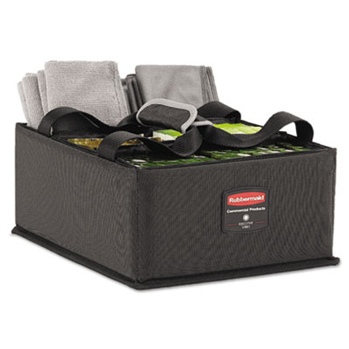 Rubbermaid Commercial Executive Quick Cart Caddy, Large, Dark Gray (RCP 1902468)