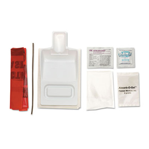 Medline Biohazard Fluid Clean-Up Kit, 7 Pieces, Synthetic-Fabric Bag (MII MPH17CE210)