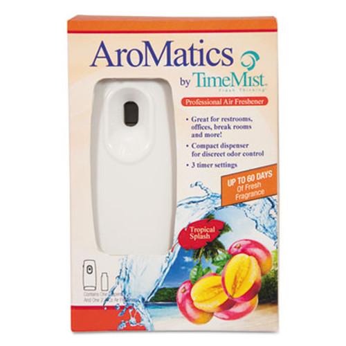 TimeMist AroMatics Dispenser/Refill Kits, 3oz Tropical Splash Refill, White Dispenser (WTB1047357)