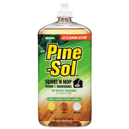 Pine-Sol Squirt 'n Mop Multi-Surface Floor Cleaner, 32 oz Bottle, Original Scent, 6/CT (CLO 97348)